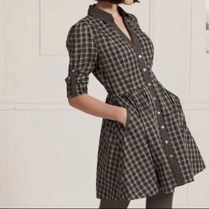 Anthro Moulinette Seours Plaid Shirt Dress Tunic 0